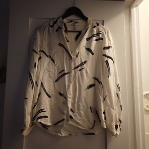 Joie feather pattern blouse